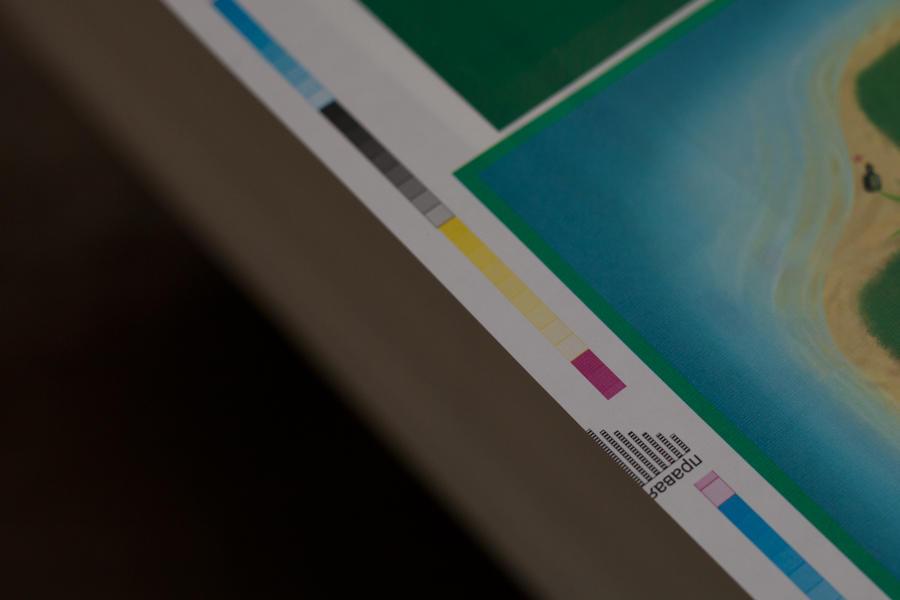 24. Обратите внимание, они печатаются сразу с образцами цвета и метками для людей и роботов: