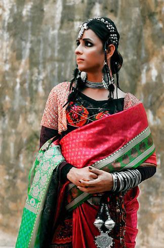 Гламурная фотосессия первой транс-модели в Пакистане (9 фото)