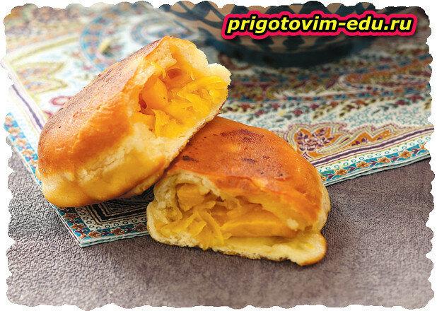 Пирожки с тыквой и персиками