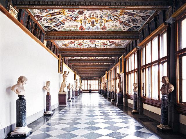 La galerie des Offices du Palais Florentin.