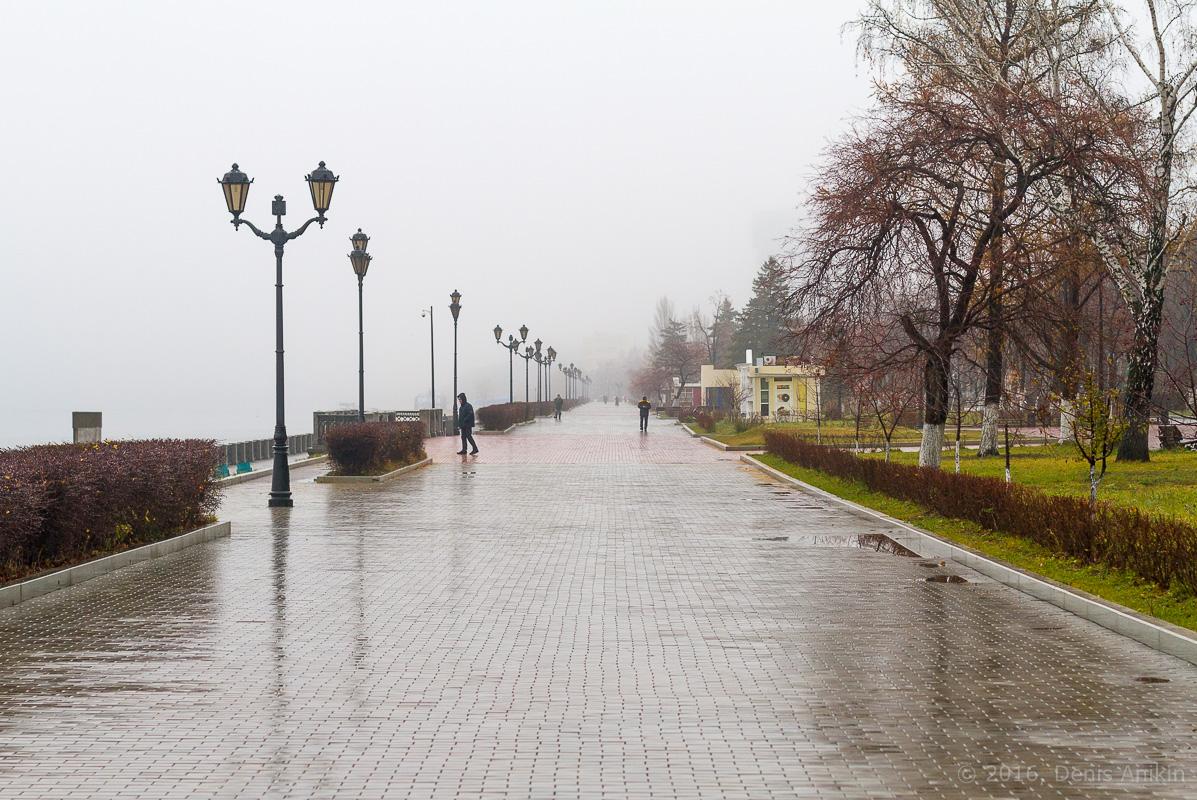 Самара набережная туман дождь фото 19