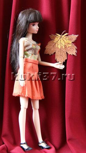 юбка для Барби в складку