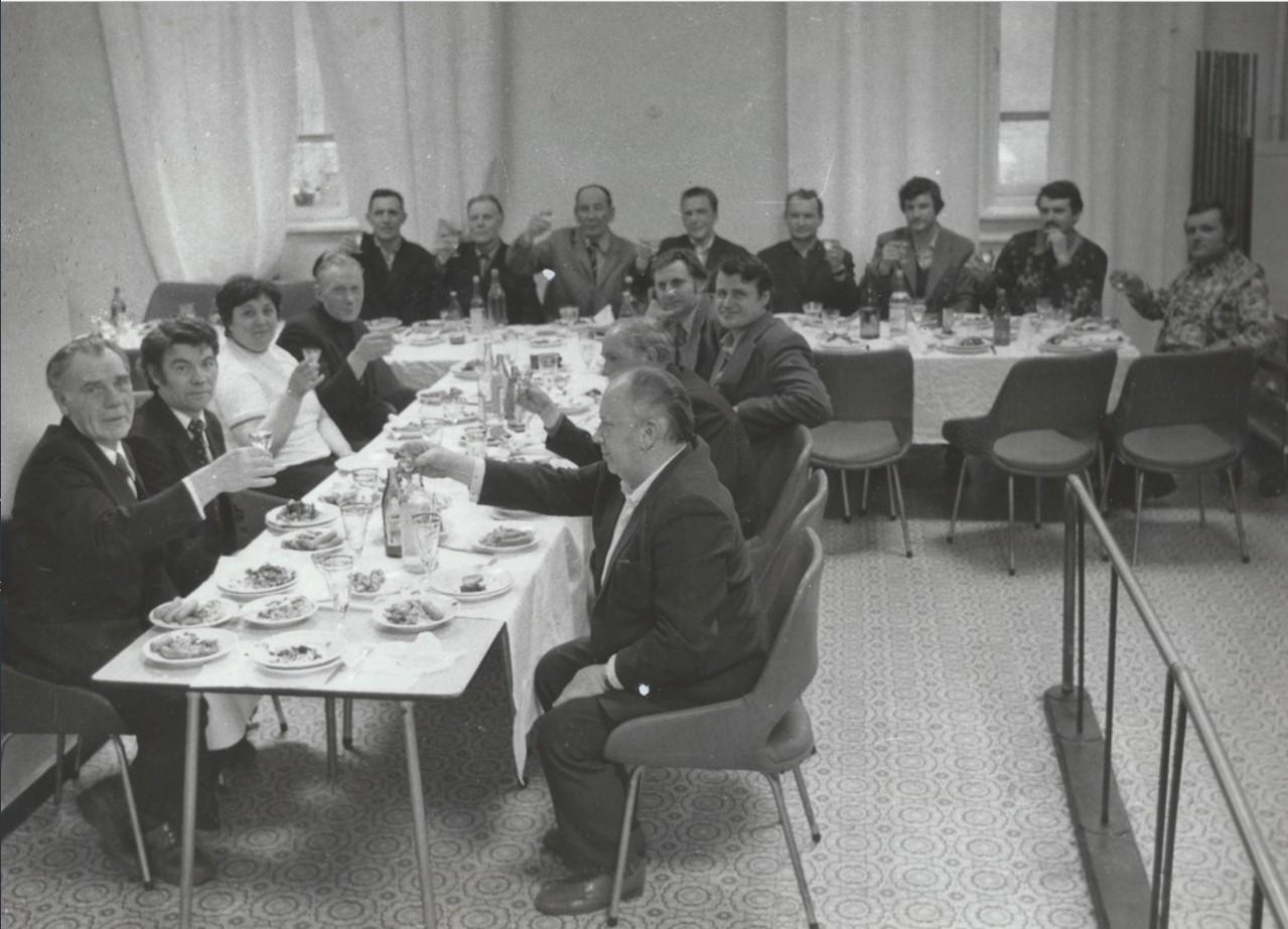 1979. Проводы на заслуженный отдых. Научно-реставрационная мастерская Эрмитажа. Ленинград