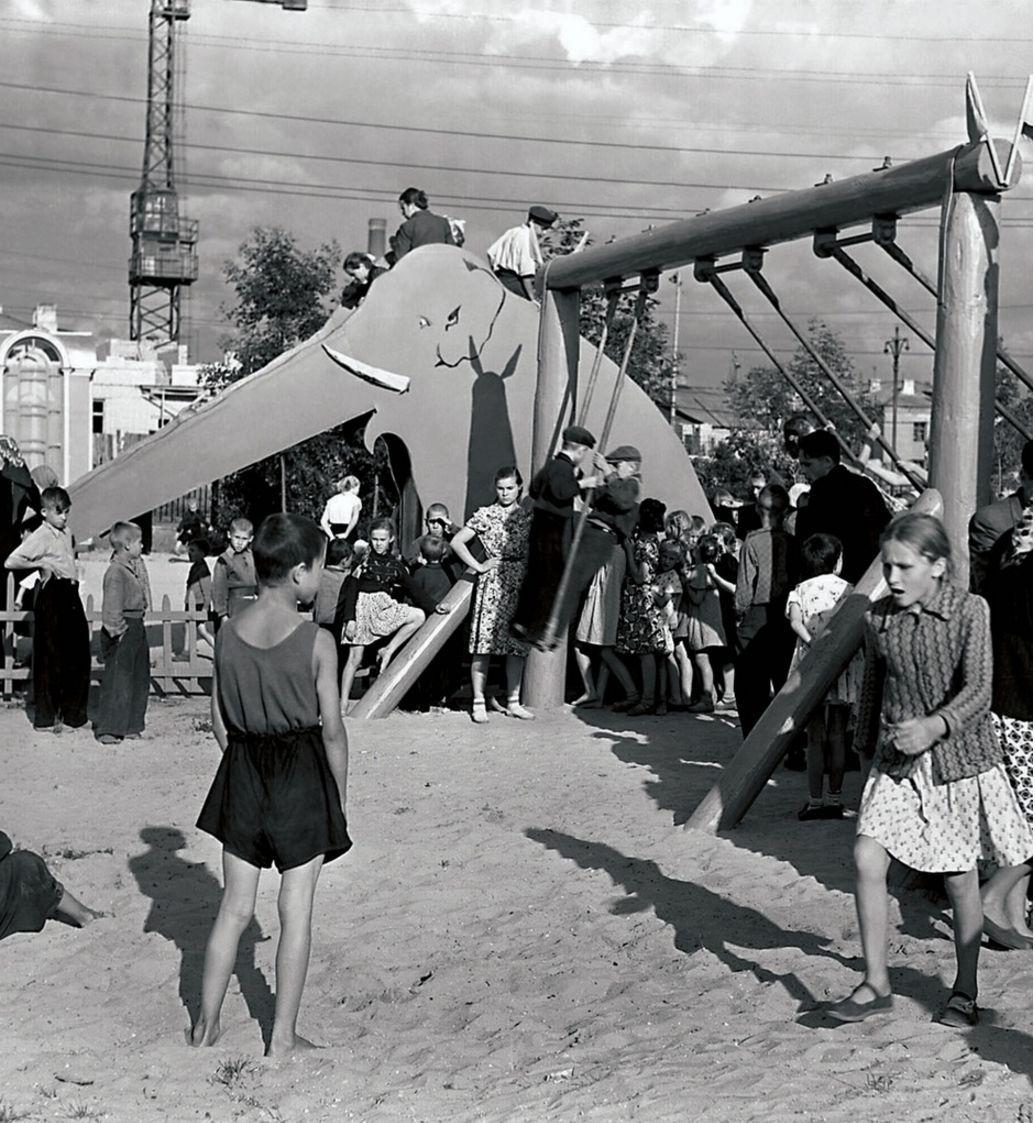 Челябинск. Детский городок в парке (1951)