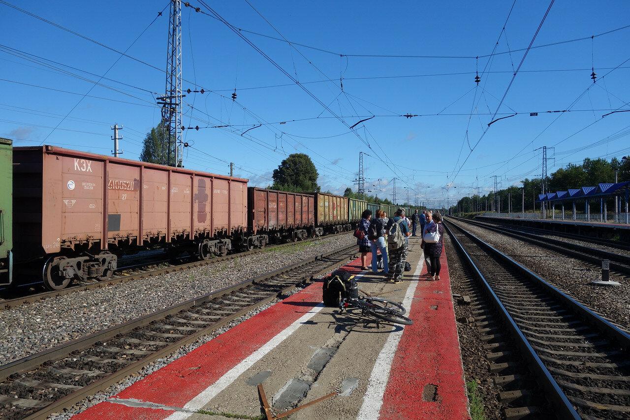 Балакирево, платформу перекрыл состав