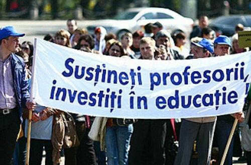 Учителя в Молдове выходят на массовые акции протестов