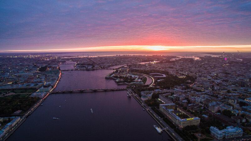 Закат над Петербургом