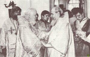 1990. Патриарх Алексий, митрополит Иоанн и отец Владислав.