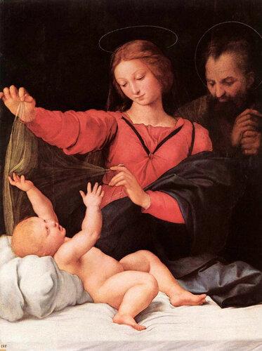 Madonna of Loreto,  Рафаэль Санти