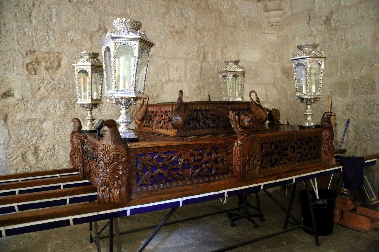 Trujillo. Church of Santa María la Mayor interiors