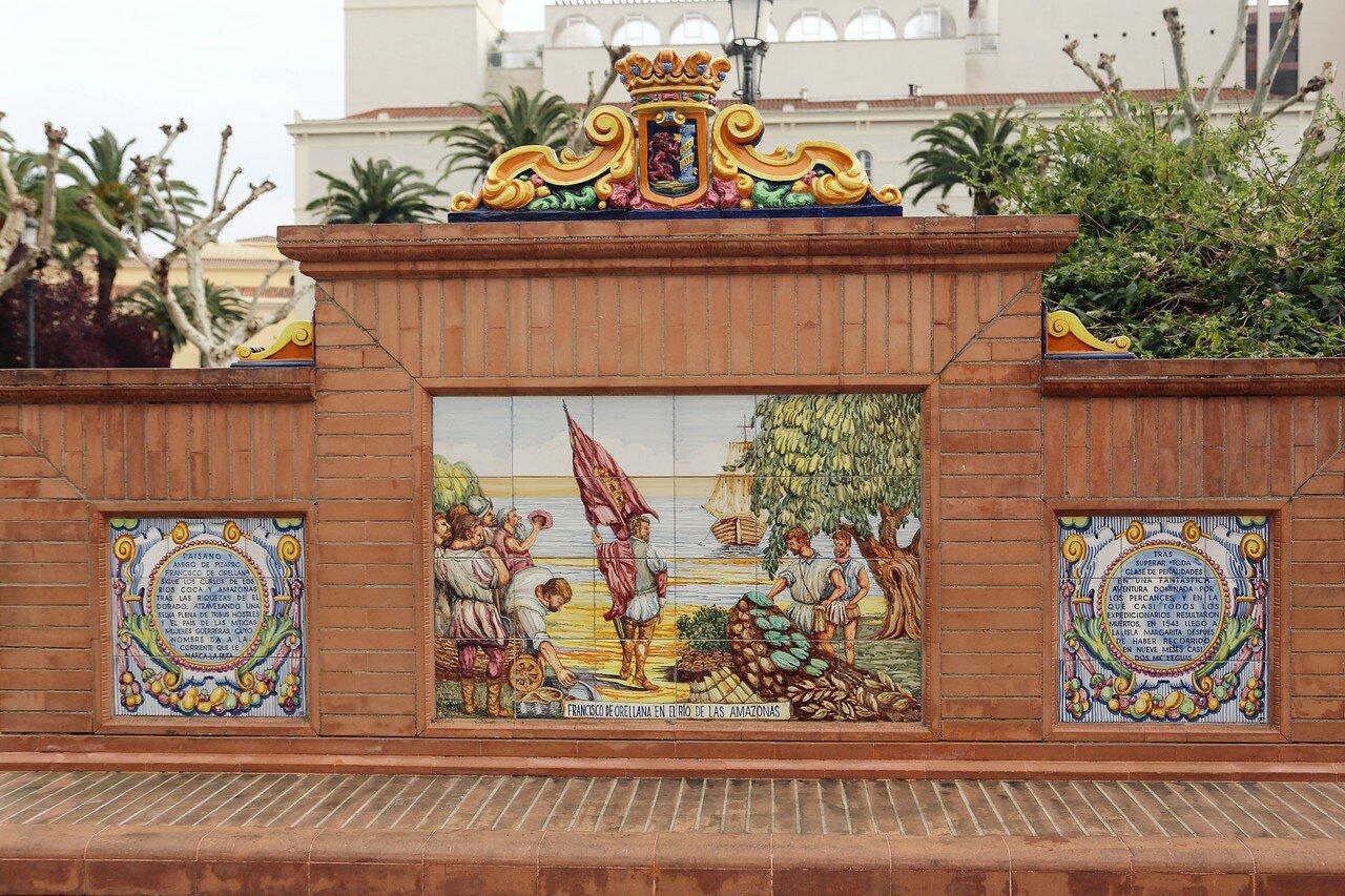 Paseo de San Francisco, ceramic paintings. Badajoz