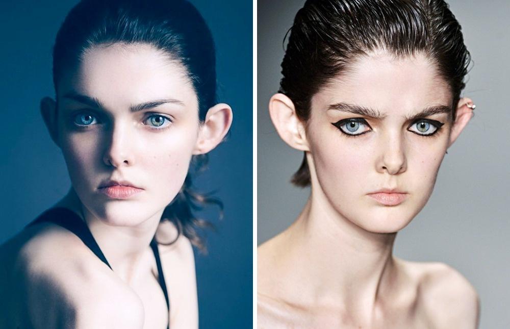 © ciaraallenmakeupartist  © models  Вдетстве Лауру дразнили из-за еебольших оттопыренн