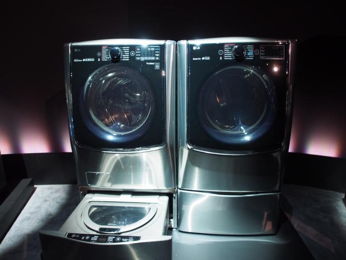 LG TWIN Wash System: сразу два барабана для стирки.
