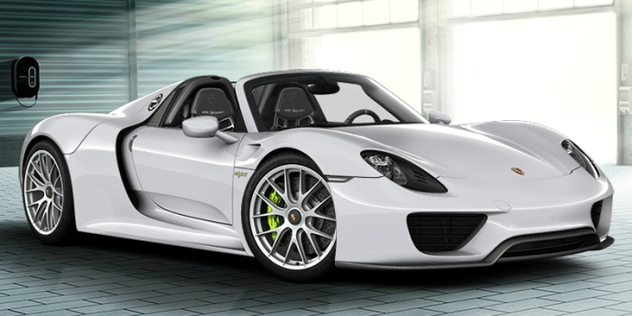 Porsche 918 Spyder Concept Car. Еще одни ретро-футуристический автомобиль представленный совсем неда