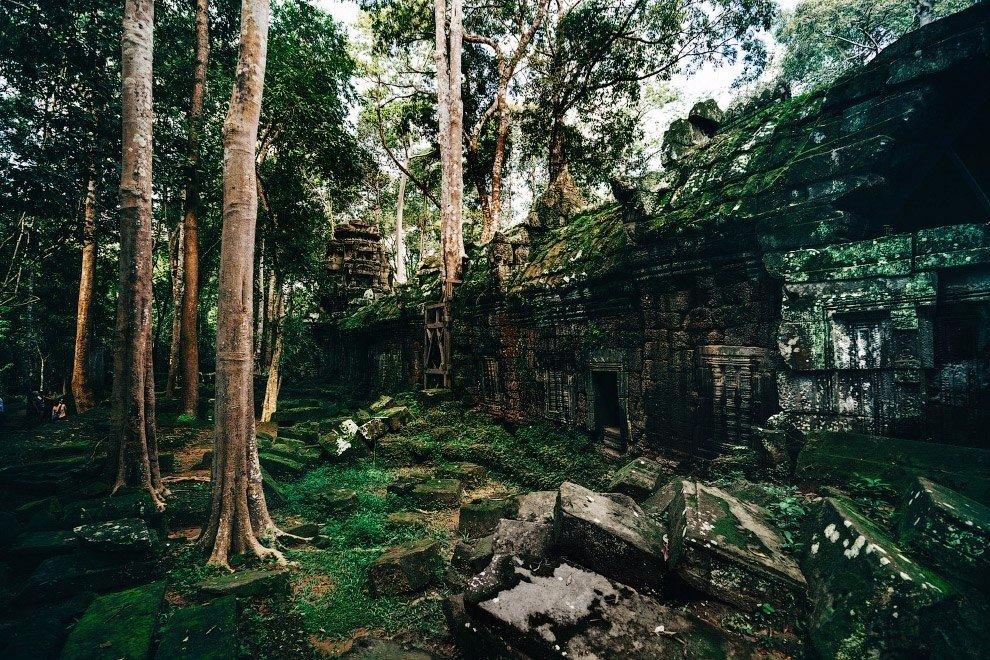 Заброшенные храмы в Ангкоре, Камбоджа