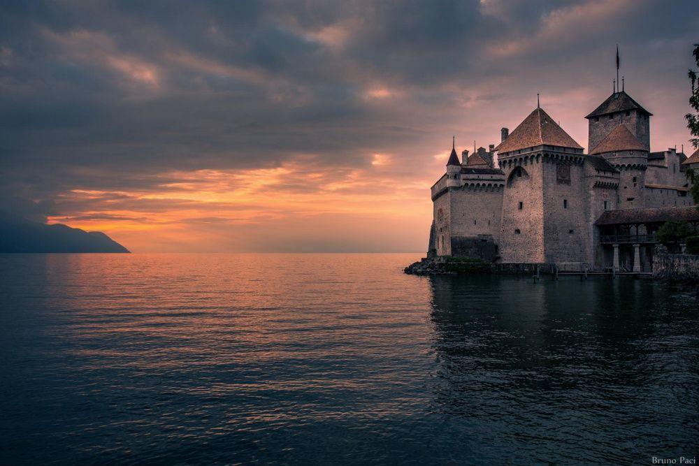 10. Шильонский замок, Швейцария (© Bruno Paci) Эта средневековая бастилия с высоты птичьего полета н
