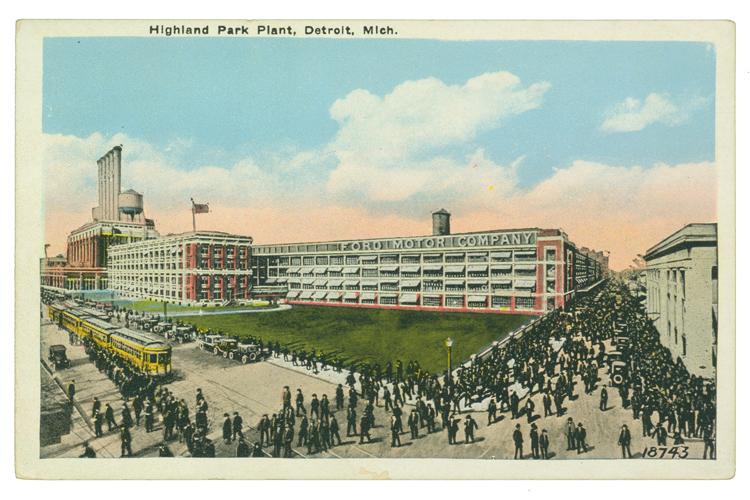 Открытка с изображением завода, 1914