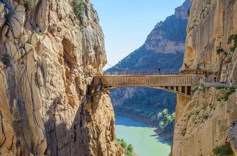 Знаменитая El Caminito Del Rey расположена между водопадами Чорро и Гайтанехо в испанской провинции