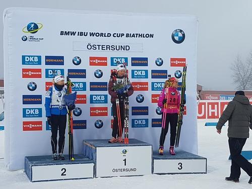 Мари Дорен-Абер выиграла спринт на1 этапеКМ