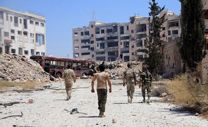 Заключительная колонна сбоевиками иихсемьями покинула восточные кварталы Алеппо