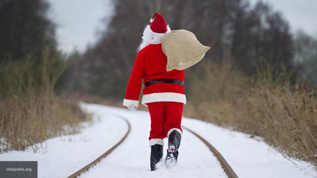 Санта Клаус уходит вежегодное кругосветное путешествие