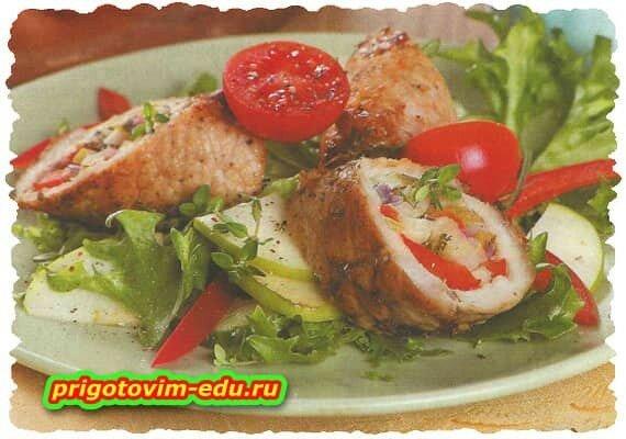 Жаркое с овощами в рулете. рецепт приготовления