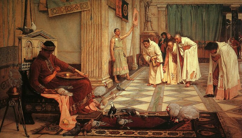 1 John_William_Waterhouse_-_The_Favorites_of_the_Emperor_Honorius_-_1883.jpg