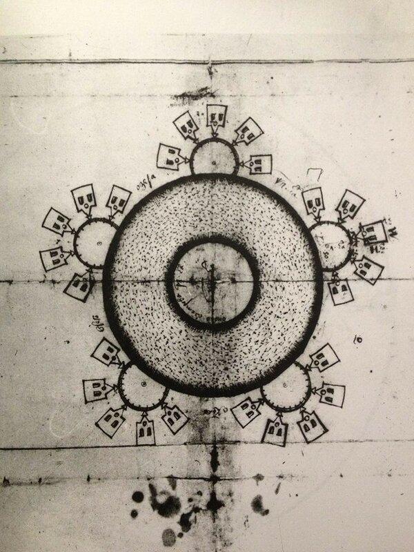 Чертёж кирпичного завода. 1660-е. Чертёж выполнил П.С. Кудрявцев.