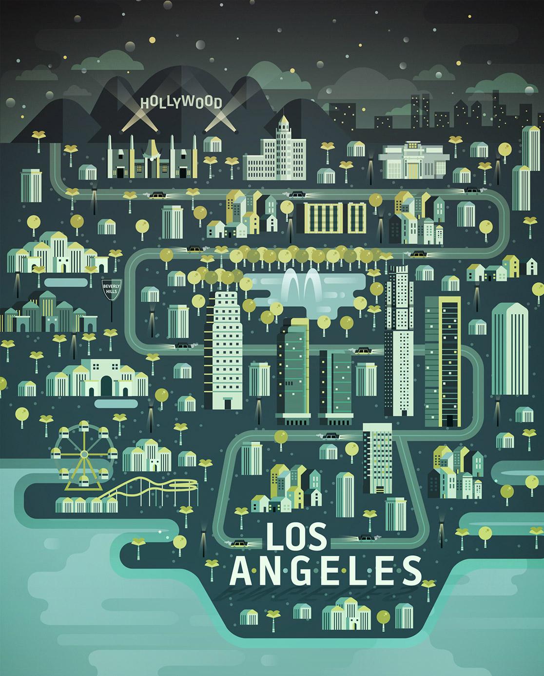 Cosmopolis as cidades nas ilustracoes de Aldo Crusher