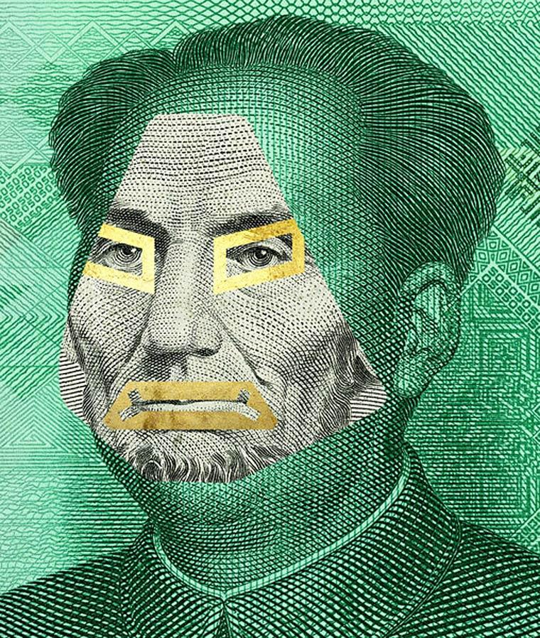 Facebank - Des billets de banque detournes en super-heros ironiques contre la crise