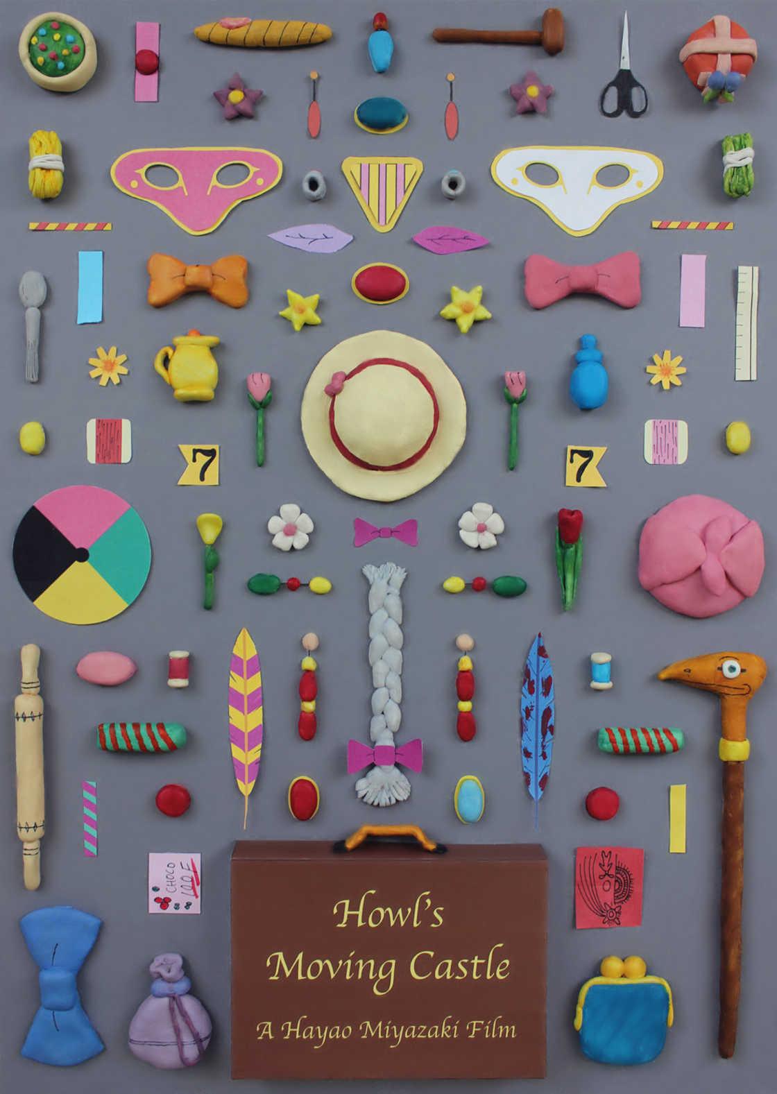 Objetos iconicos dos filmes de Miyazaki foram reunidos em cartazes (4 pics)
