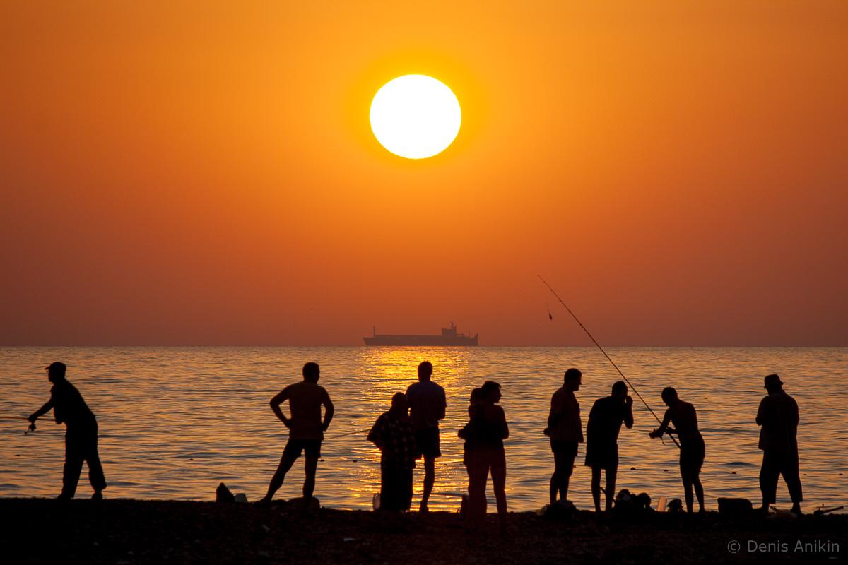 лето море закат фото 1