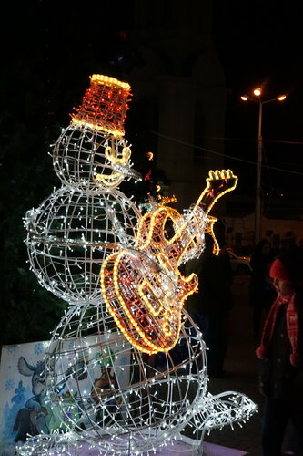 Снеговик на ул.Станиславского возле собора