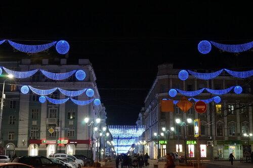 Новогодние украшения на Соборной площади