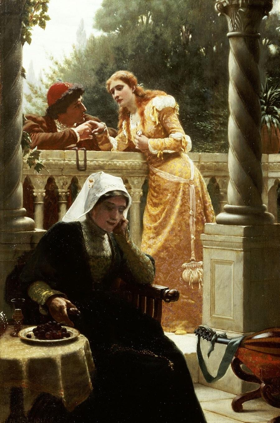 1888 Разговор украдкой (A stolen interview) Частное собрание.