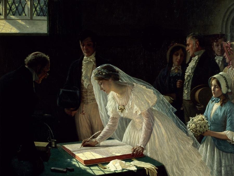 Регистрация брака (Signing the register) Бристоль, Музей и Картинная галерея.