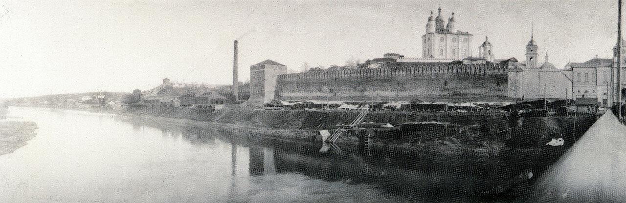 Панорамный вид со Старого моста на Волкову башню и Успенский собор. 1902