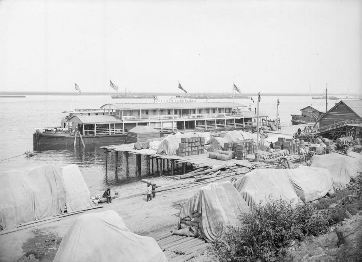 1903. Общий вид причала. Нижний Новгород
