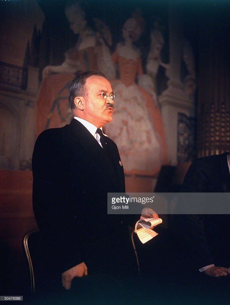 1945 Soviet For. Min. Vyacheslav M. Molotov during Conference to adopt the UN Charter.jpg