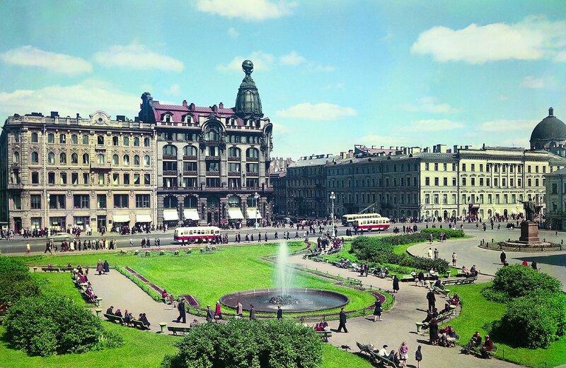 1953-59 Сквер у Казанского собора. Илья Голанд.jpg