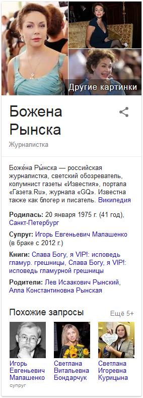 Божена Рынска-Google