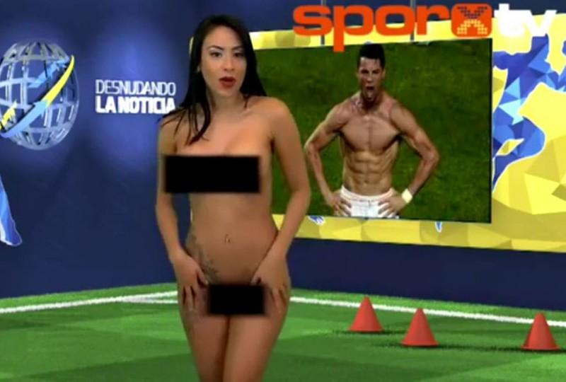1. Венесуэльская телеведущая Юви Пальярес пообещала раздеваться в прямом эфире после каждой победы с