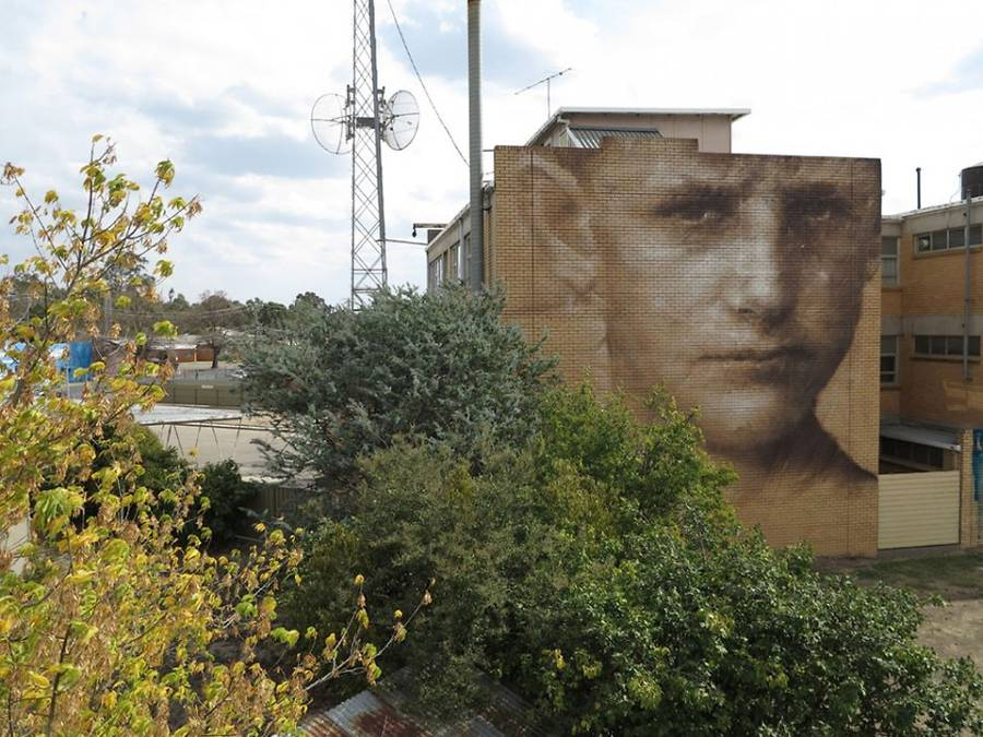 Giant Street Art Portraits in Kiev