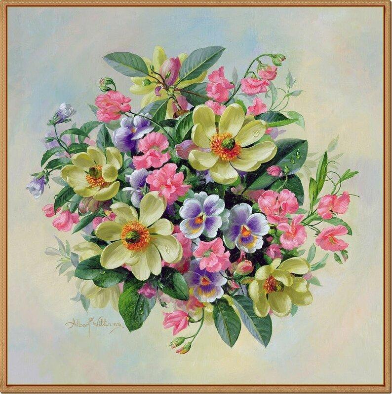 44 Albert Williams (1922-2010) холст, масло, Доброе утро с музыкой прелестною цветов!