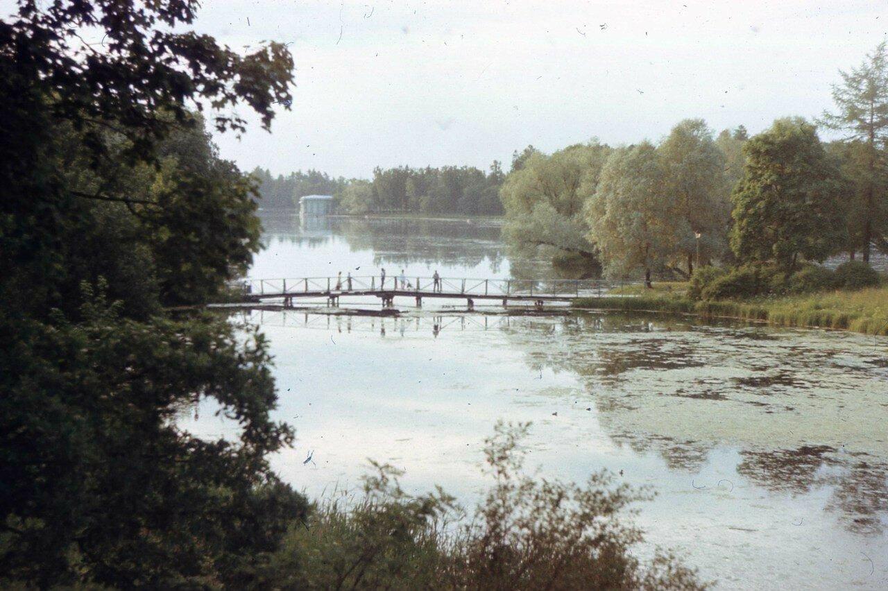 1980-е. Вид на Белое озеро в Дворцовом парке