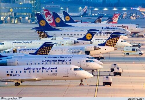 Lufthansa и Eurowings объявили об отмене более 870 рейсов