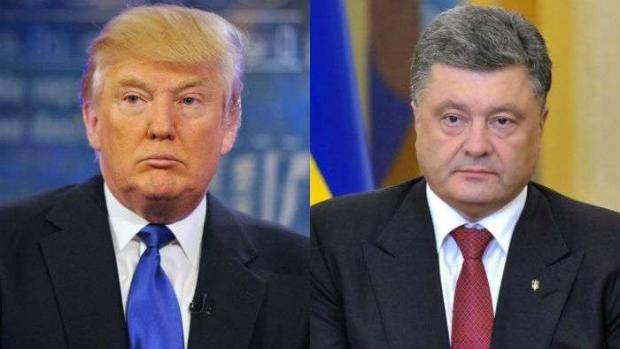 Трамп и Порошенко обсудили по телефону российскую агрессию в Украине