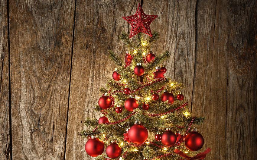 Новогодняя ёлка, праздник, фоны, игрушки, украшения