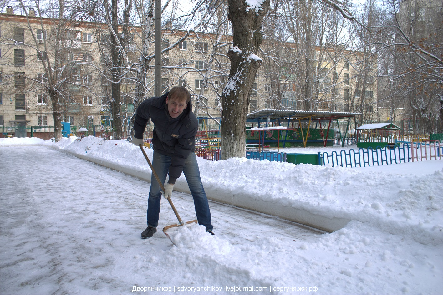 Чистим снег сами - снегоуборочная машина Волгоград 2017 - терминатор