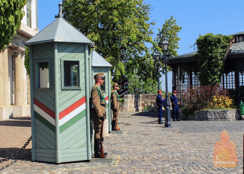 Смена почетного караула у дворца Шандора